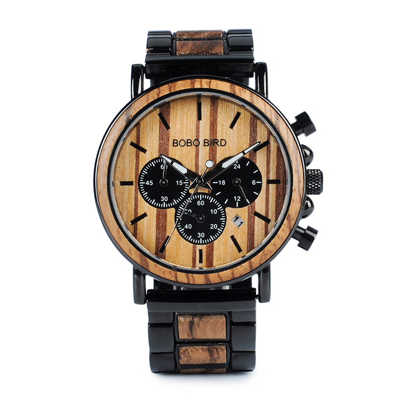 Zegarek drewniany Bobo Bird Logos 17