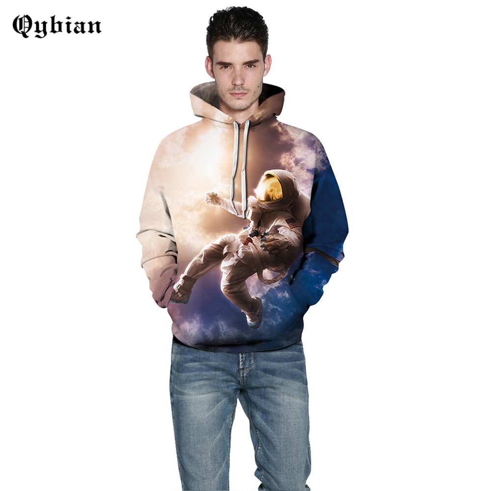 Qybian New hoodies hombre fashion skateboard Streetwear People proud of astronauts Print sweatshirt men women hoodie sweat homme