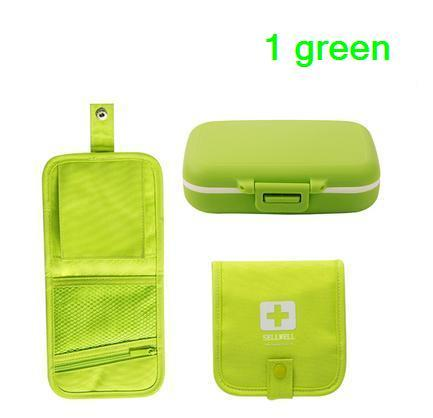 freeshipping 2pcs 6slots  portable sealed  pill case/medicine box with protective package for drugs ( MCPP resin material )