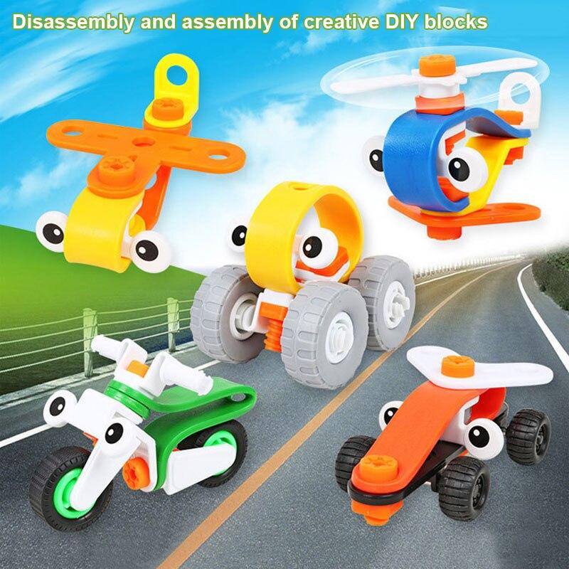 100% Wahr Kinder Diy Montiert Demontiert Kunststoff Spielzeug Cartoon Autos Flugzeuge Motorrad Kid Spielzeug S7jn üPpiges Design