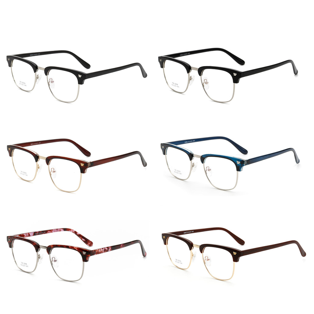 31bd5762a14 New Fashion Classical TR90 Optical Frame Glasses Men Women Eyeglasses  Spectacles RX Half Rim 6 Color Available-in Eyewear Frames from Apparel  Accessories on ...