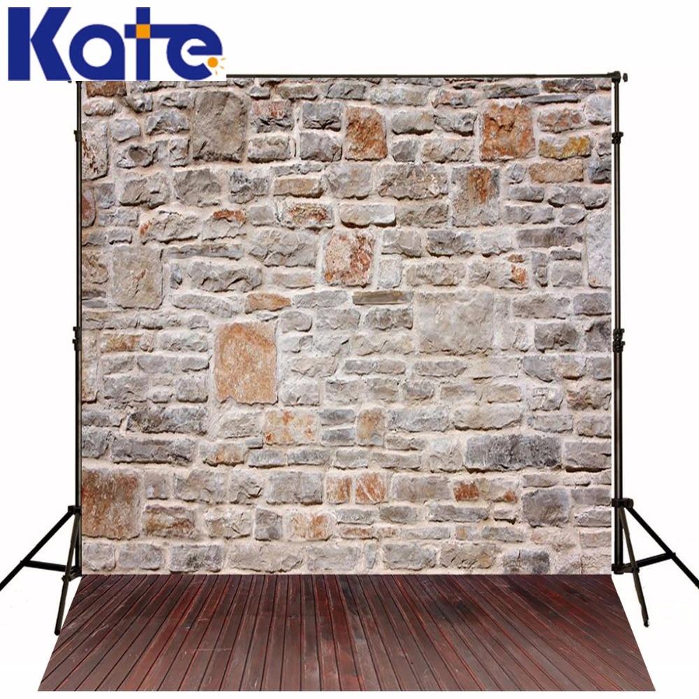 Kate 250x300 cm Muro di Mattoni Fondali Fotografia Vintage Legno - Macchina fotografica e foto