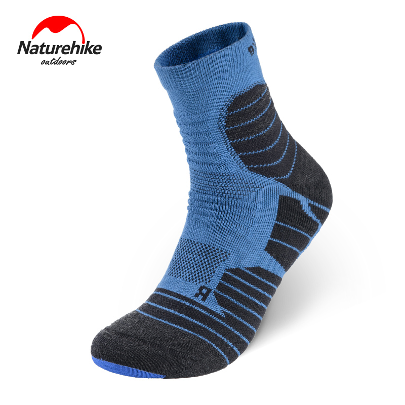 Naturehike Men Women Thicken Trekking Sock Coolmax Sweat-absorbent Breathable Quick-Drying Sports Running Socks