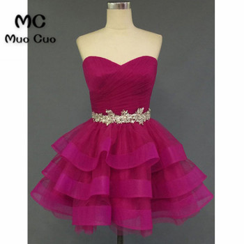 2018 Charming Homecoming dress short Ball Gown Sweetheart Organza Crystals Beaded cocktail party dress short homecoming dress фото