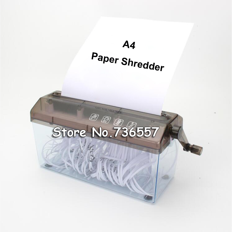 A4 9 inch Shredder Manual Hand Paper Shredders Document File Handmade Straight Cutting Machine Tool for School Office Home Use