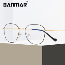 BANMAR Glasses Frame Men Women Metal Anti Blue Rays Computer Eyeglasses Goggles Radiation Resistant Reading Optical Eyewear 1910