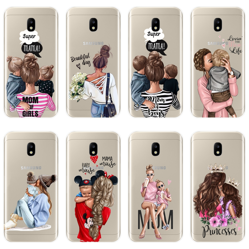 TPU Case For Samsung Galaxy J2 J5 J7 Prime J3 J5 J7 2015 2016 2017 Girl Baby Women Mom Cover Case For Samsung J4 J6 J8 Plus Case image