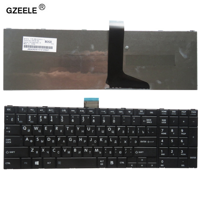 GZEELE Laptop Keyboard for toshiba C850 C855D C850D C855 C870 C870D C875 L875 L850 L850D L855 L870 L950 L955 C70 C70D C75 RU
