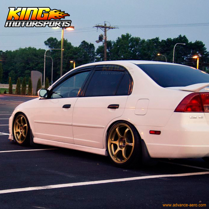 For 01 05 Honda Civic Es1 Es2 7th Gen Sedan Mugen Style Window Visor