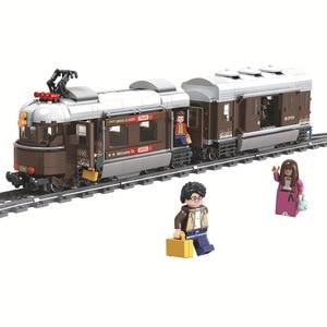 Image 1 - זוכה 5090 שוויץ קלאסי רכבת עיר טכני דגם בניין בלוקים לבני ילדי DIY צעצועים לילדים חינוכיים
