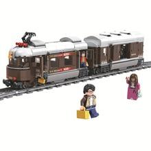 Winner 5090 سويسرا الكلاسيكية قطار مدينة تكنيك نموذج اللبنات الطوب الاطفال DIY بها بنفسك لعب للأطفال التعليمية