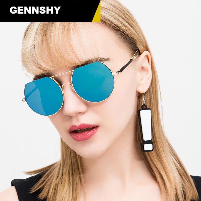 2017 New Fashion Metal Sunglasses Women Men New Cool Sun Glasses Unisex Adult Brand Design Eyewear Mirror Lenses Driving Glasses