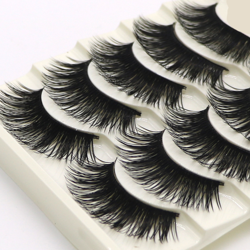 10 Pairs Long Thick Cross Eyelashes For Girls Makeup Tips Messy Eye Lashes Extension Tools False Eye Lashes Cosmetic Fake Lashes