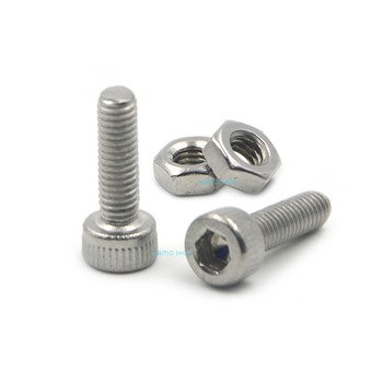 50pcs M3x10mm Stainless Steel Allen Hex Socket Head Cap Fastener Thread Screw Bolts + 50pcs M3 Nuts моноблок lenovo ideacentre aio a340 24ick f0er003ark intel celeron g4930t 4 гб 1024 гб intel uhd graphics 610 23 8 1920x1080 dvd rw windows 10 home 64