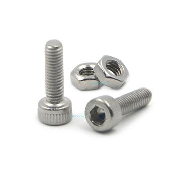 цена на 50pcs M3x10mm Stainless Steel Allen Hex Socket Head Cap Fastener Thread Screw Bolts + 50pcs M3 Nuts
