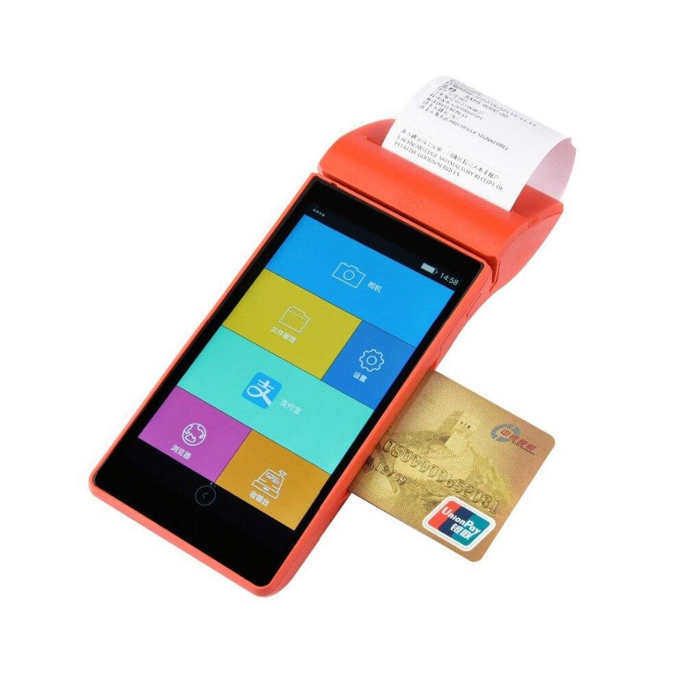 5.5 pouce écran tactile sans fil mobile en plein air paiement machine android 5.1 de poche POS terminal avec lecteur de carte imprimante thermique