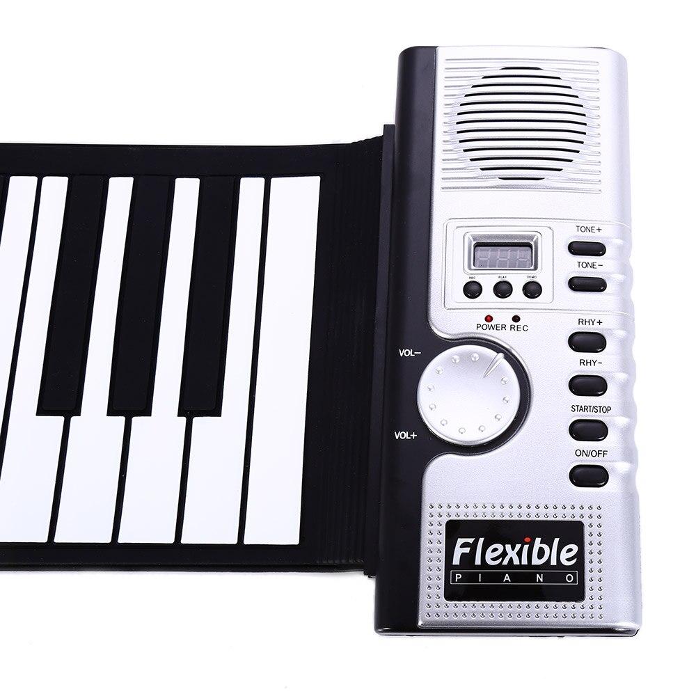 Portable 61 touches retroussable clavier souple 61 touches Silicone MIDI numérique clavier souple Piano Flexible électronique retrousser Piano - 5