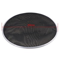 Yibuy 268mm Diameter Black Double Ply Mesh Silent Drum Head Drum Skins Percussion Accessories For 10nch