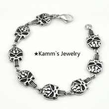 Bracelets Bangles Skull Bracelet 316L Stainless Steel kors bracelet vidonn x5 pulseiras com pingentes bijuterias rock punk KB466
