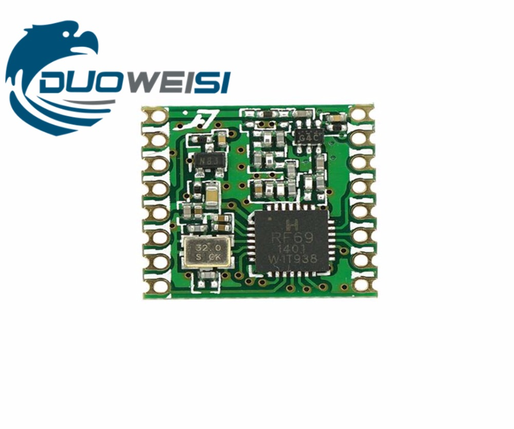 RFM69HC RFM69HCW  RFM69H CW FSK Wireless Transceiver Module SX1231 433  915M 16 * 16mm радиоприемник rolsen rfm 300