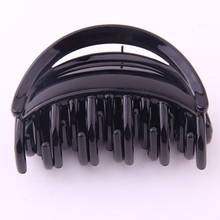 2 PIECES Hairpin For Women Good Quality ABS Plastic Hair Claw Clips Solid Color Crab Make Up Large Accessories 6.5CM