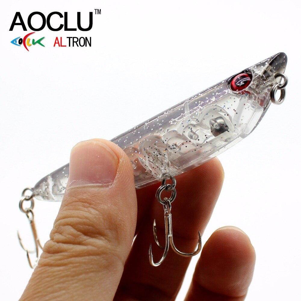 AOCLU esche wobblers Jerkbait 85 cm 9g Matita Dura Esca Minnow Crank fishing lure saltwater Bass BKK ganci 5 colori LURE affrontare