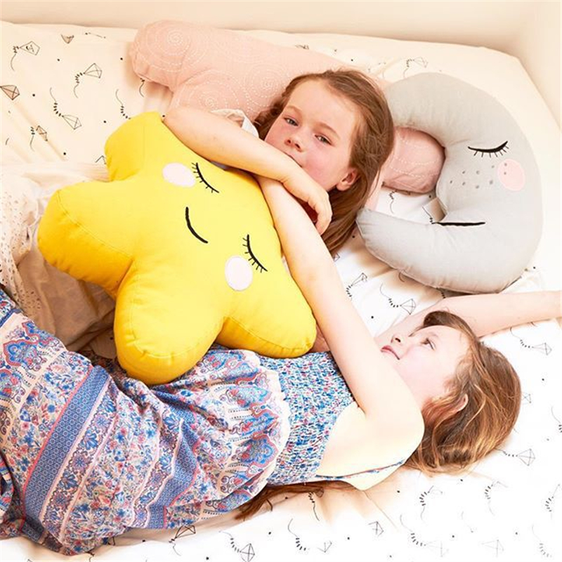 Baby Pillow Multifunction Star/Moon/Clouds/House Kids Room Decor infant Baby Bedding Sleep Pillow Newborns Photography Props