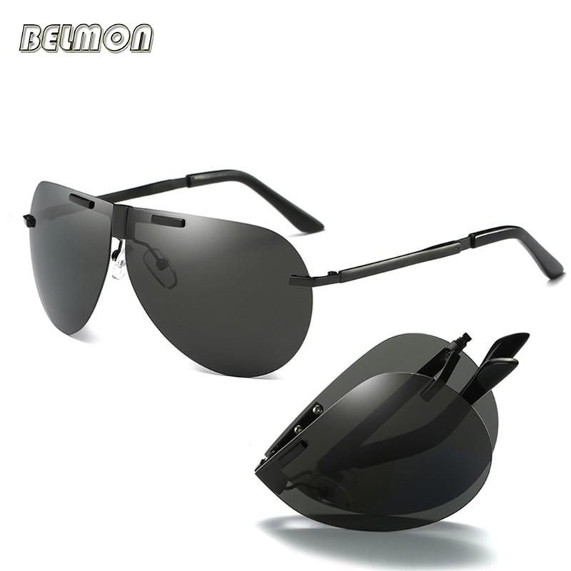 ab3ec8a22c0 Fashion Folding Polarized Sunglasses Men Brand Foldable Driving Sun Glasses  For Male Safety Driving Fishing Female