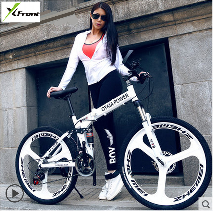 New X Front 26 inch carbon steel damping folding bike frame mountain font b bicycle b
