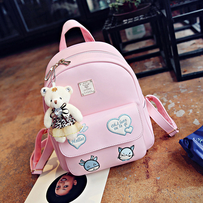 Cute Princess Child Soulder Bag Female Korean Girl Primary School Students Backpack Girl Fashion Travel Bag Cartoon Backpack 710 39 99usd 9 colours 2017 wholesale korean fashion pu zipper primary secondary school students backpack five pieces 2017121401