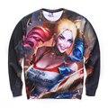 2016 Женщины Мужчины Толстовка Толстовки Американский Comic Harley Quinn Suicide Squad Осень О длинным Рукавом Спортивный Костюм Пуловеры Рубашка