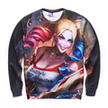 2016 Women Men Sweatshirt Hoodies American Comic Harley Quinn Suicide Squad Autumn O neck Long Sleeve Tracksuit Pullover Shirt