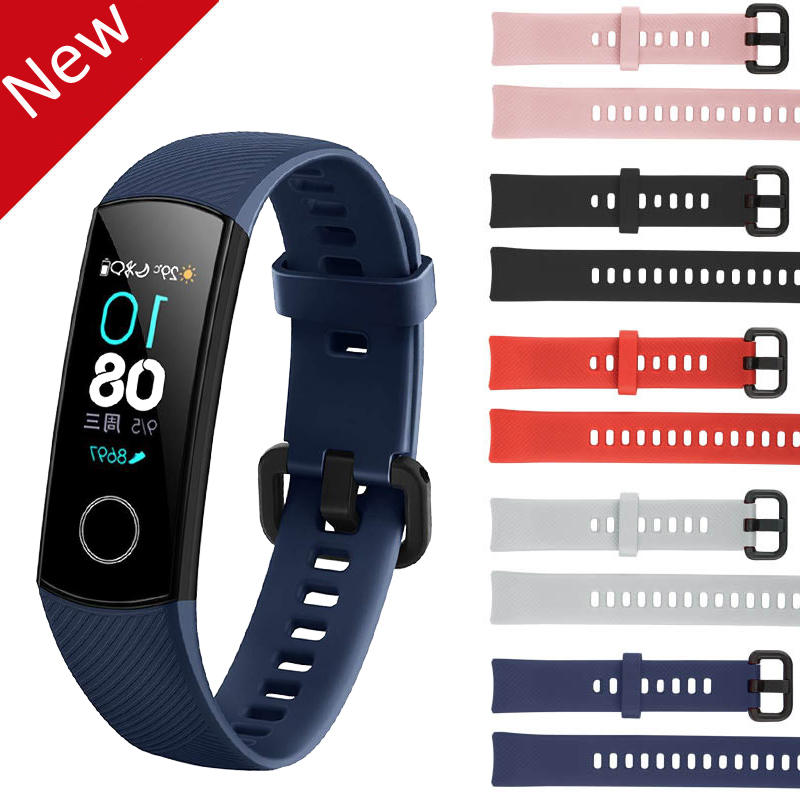 Silicone Wrist Strap For Huawei <font><b>Honor</b></font> <font><b>Band</b></font> <font><b>4</b></font> <font><b>NFC</b></font> Smart Sport Bracelet Strap For Huawei <font><b>Honor</b></font> <font><b>Band</b></font> <font><b>4</b></font> Standard Version Clear Film image