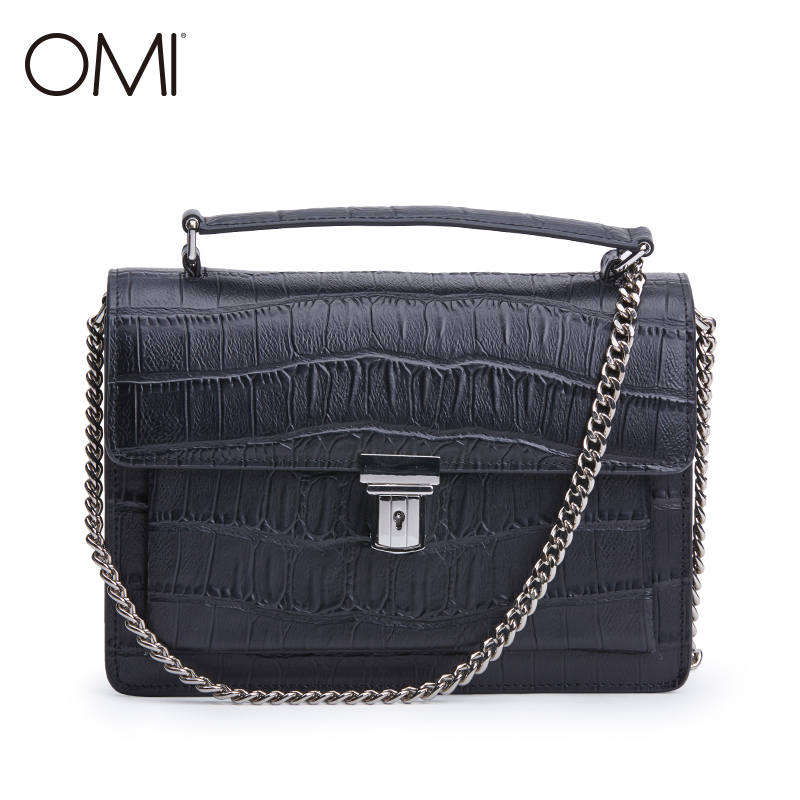 все цены на OMI Women's bag Women's genuine leather Messenger bags Female's handbags famous designer brand bags luxury Shoulder bag Flap New онлайн