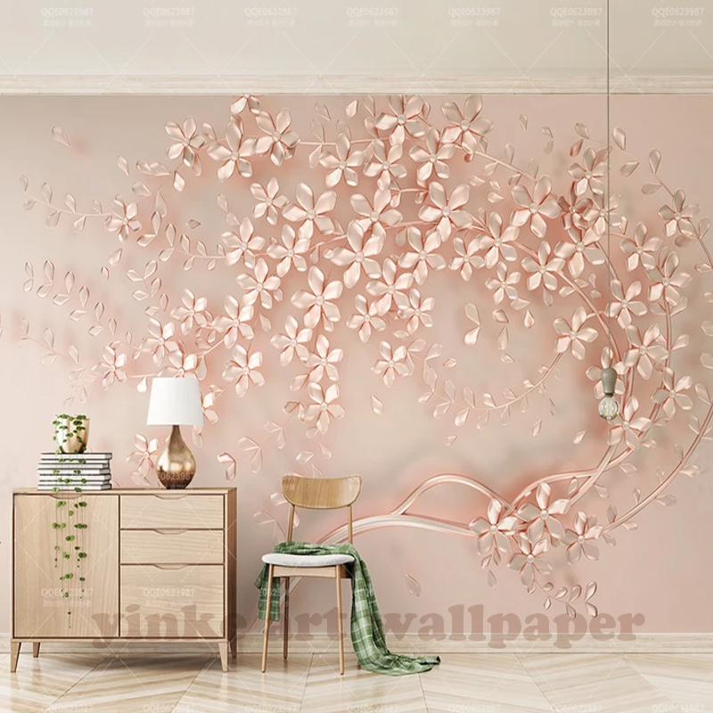 3d Stereoscopic Mural Wallpaper Customized Large Mural Luxury Elegance 3d Stereoscopic