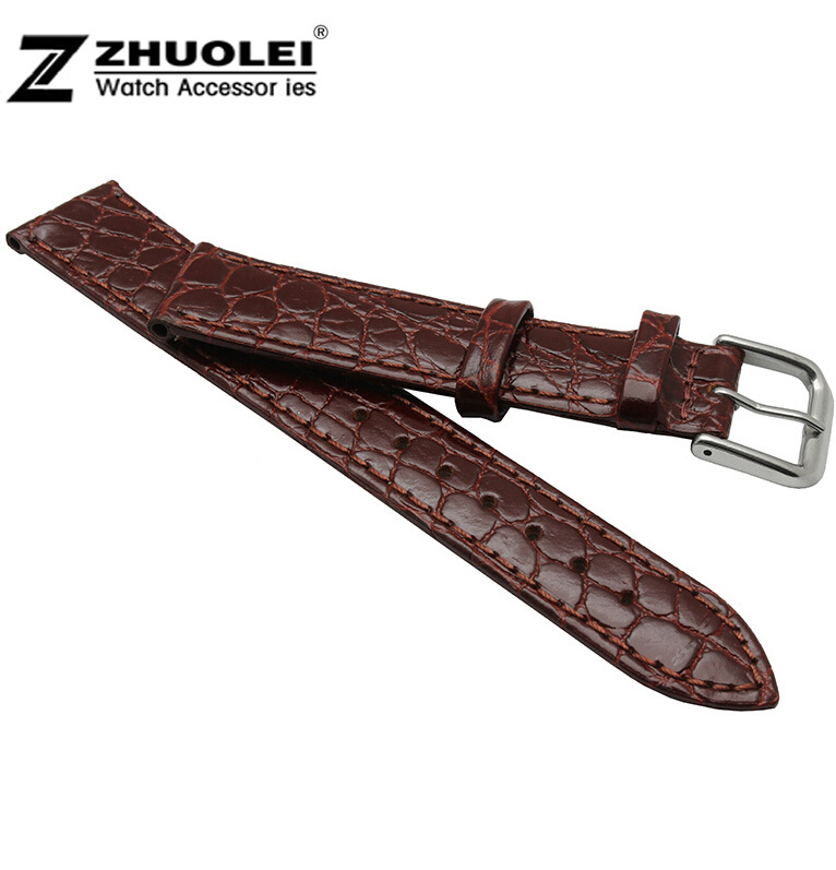 13mm 14mm 16mm 18mm 20mm Silver Stainless Steel Buckle Clasp Brown Genuine Leather Watch Band Bracelet Strap13mm 14mm 16mm 18mm 20mm Silver Stainless Steel Buckle Clasp Brown Genuine Leather Watch Band Bracelet Strap