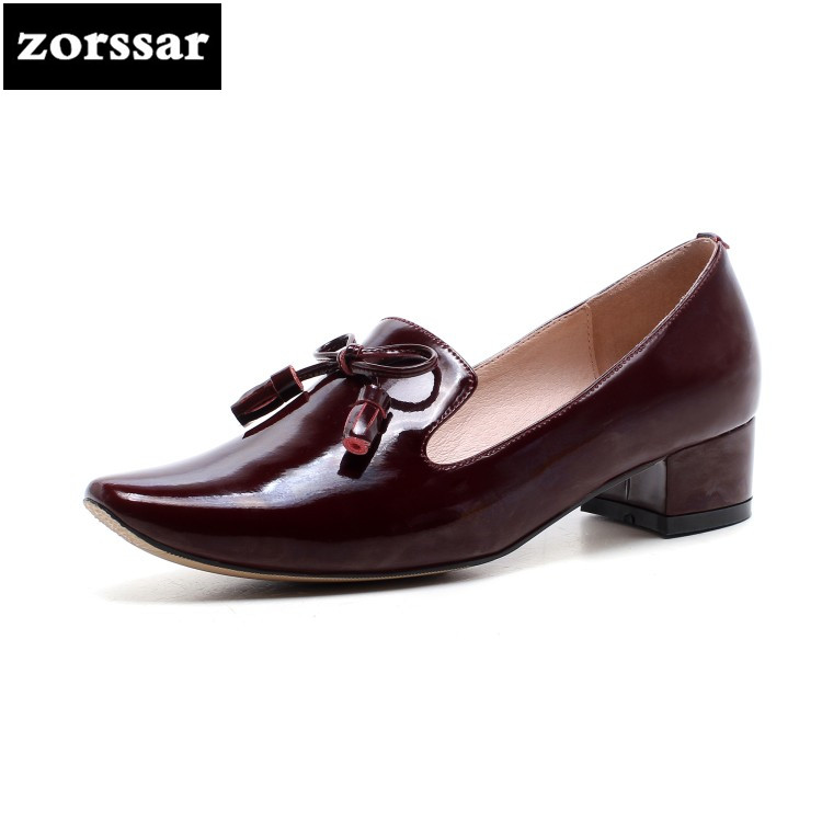 {Zorssar} 2018 New Fashion Patent leather sexy high heels Pointed toe pumps Shallow Single shoes Woman Office Career shoes