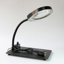 купить 5x 8x 10x Magnifier LED Desk Light Daylight Magnifying Glass Table Lamp 48 LED Multi-function Desktop Magnifying Lamp Wholesales дешево