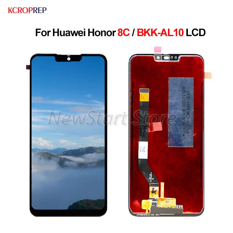 For Huawei <font><b>Honor</b></font> <font><b>8C</b></font> LCD <font><b>Display</b></font> <font><b>Touch</b></font> <font><b>Screen</b></font> Digitizer Assembly <font><b>With</b></font> Frame 6.26