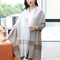 new fashion 100% merino wool women brief plaid scarfs shawl pashmina 70x200cm small tassel