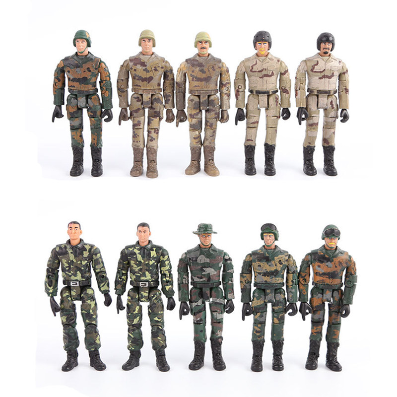 1PCS Random Starz Army Navy Airman Soldiers Military Model Toy Heroic Soldier Modeling Movable Joints Toys For Boys Toys Gift