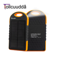 Tollcuudda Solar Charger Power Bank 12000mAH Backup PowerBank MI Dual USB Charger For Android Xiaomi Iphone