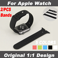 Para apple reloj accesorios por original 1:1 real bandas 2 / pcs 38 - 42 mm con adaptador original para apple correa muñequera reloj