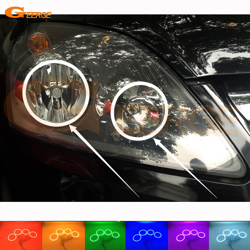 For Opel Zafira B 2005-2014 Excellent Angel Eyes kit Multi-Color Ultra bright RGB LED Angel Eyes Halo Rings for mercedes benz b class w245 b160 b180 b170 b200 2006 2011 excellent multi color ultra bright rgb led angel eyes kit