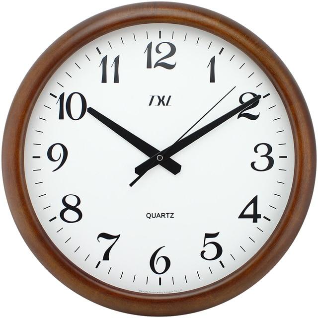 Schon Holz Wanduhr Ruhigen Stillen Uhr Holz Klassische Große Roma Ziffer Desktop  Uhr 16 Zoll Nadel Batterie