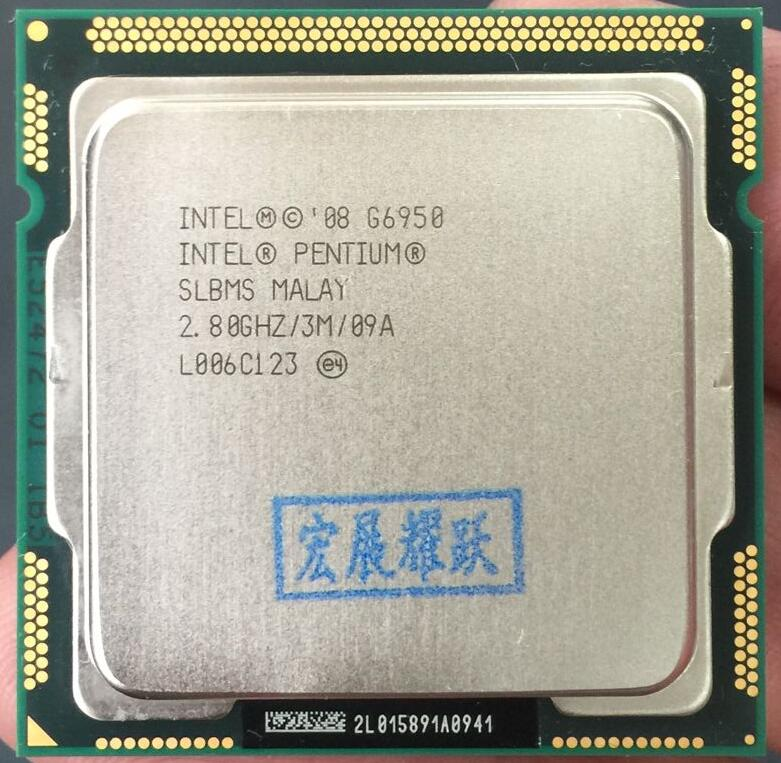 Intel Pentium Processor G6950 (3M Cache, 2.80 GHz) LGA1156 Desktop CPU 100% Working Properly Desktop Processor
