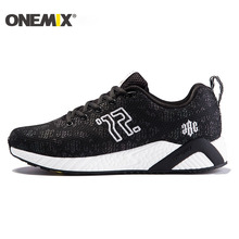 ONEMIX Men's Running Shoes Light Breathable Sport Shoes for Men Sneakers Colorful Reflective Vamp Cool for Outdoor Walking Shoes