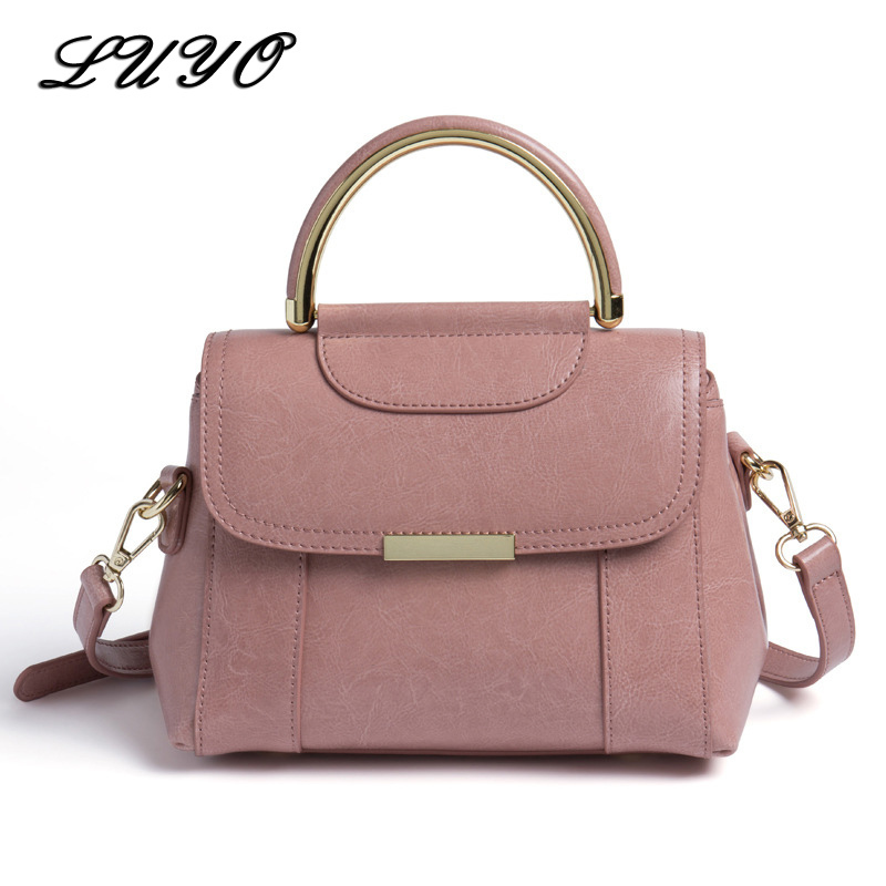 LUYO Genuine Leather Women Messenger Shoulder Bags Female Tote Bag Famous Brand Neutral Ladies Designer Handbags High Quality