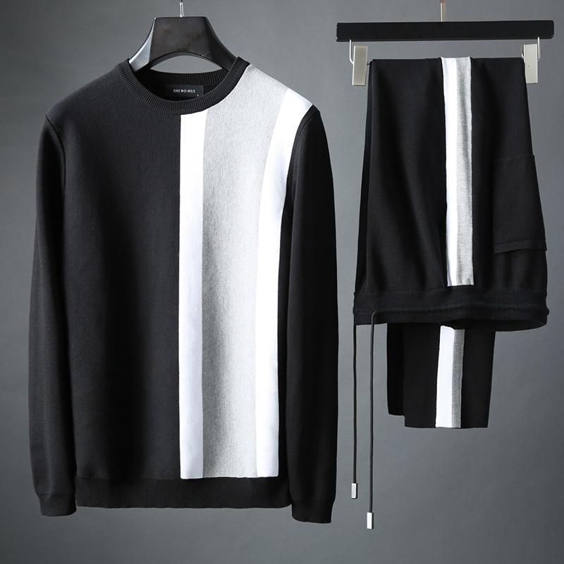 JSBD Men's Luxury Color Design 2019 New Spring And Autumn O-neck Men's Sweatshirt Fashion 2 Pieces (sweatshirt + Pants) Sportswe