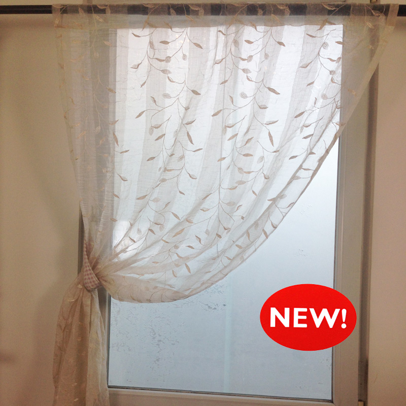 American Country Retro Embroidered Gauze Curtains Living
